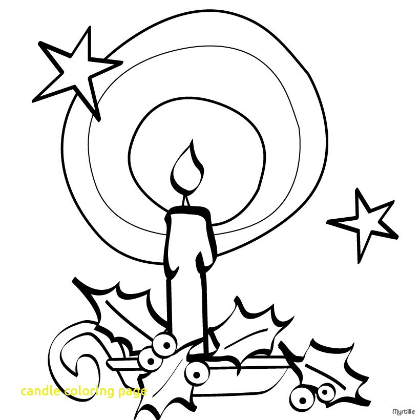 820x820 Candle Coloring Page With Coloring Pages For Candles Kids Drawing