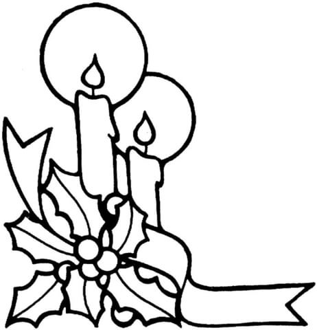 462x480 Candles For Christmas Coloring Page Free Printable Coloring Pages
