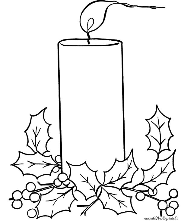 Christmas Candle Drawing at GetDrawings.com | Free for personal use ...