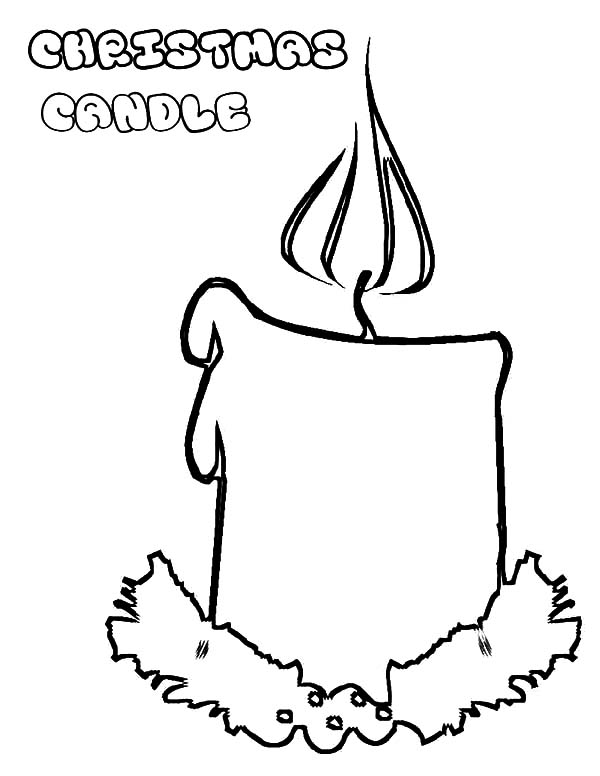 600x776 Christmas Candle Coloring Pages Best Place To Color