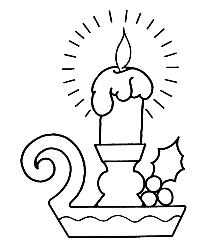 670x820 Christmas Candles Coloring Page