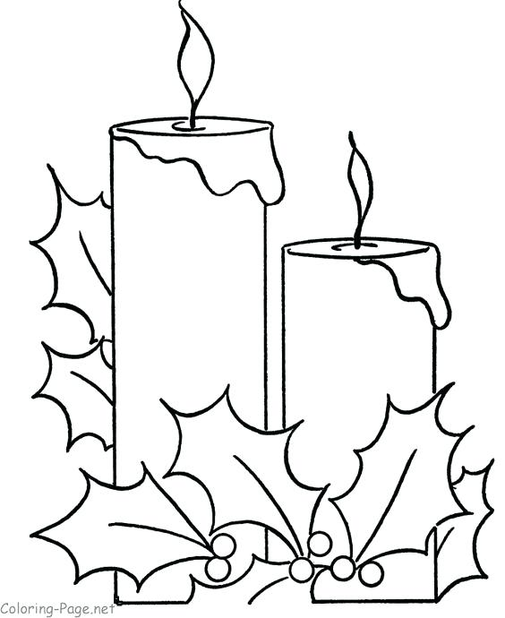 564x690 Christmas Candles Coloring Pages Coloring Pages For Kids Creative