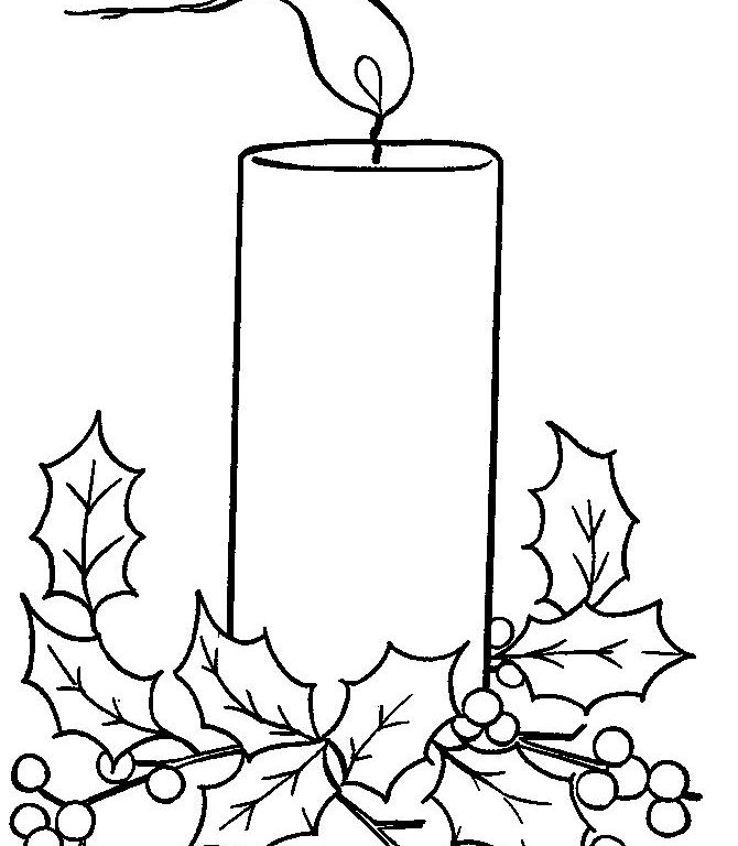 670x768 Download Christmas Candles Coloring Page 10 Coloring Pages