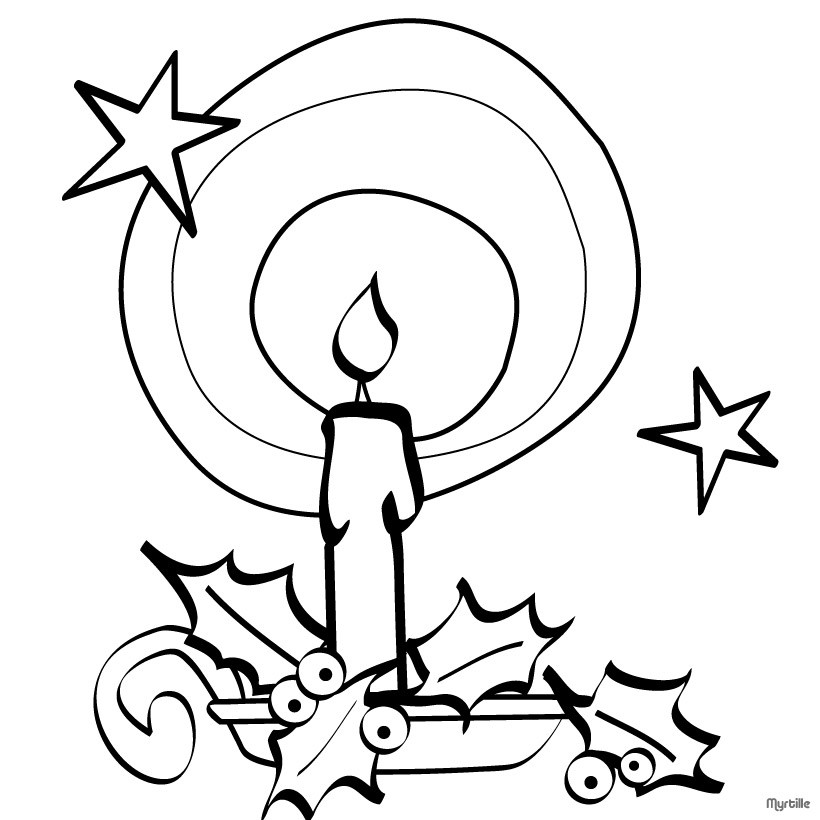 820x820 Christmas Candles Coloring Pages
