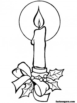 254x338 Printable Coloring Pages Of Christmas Candles