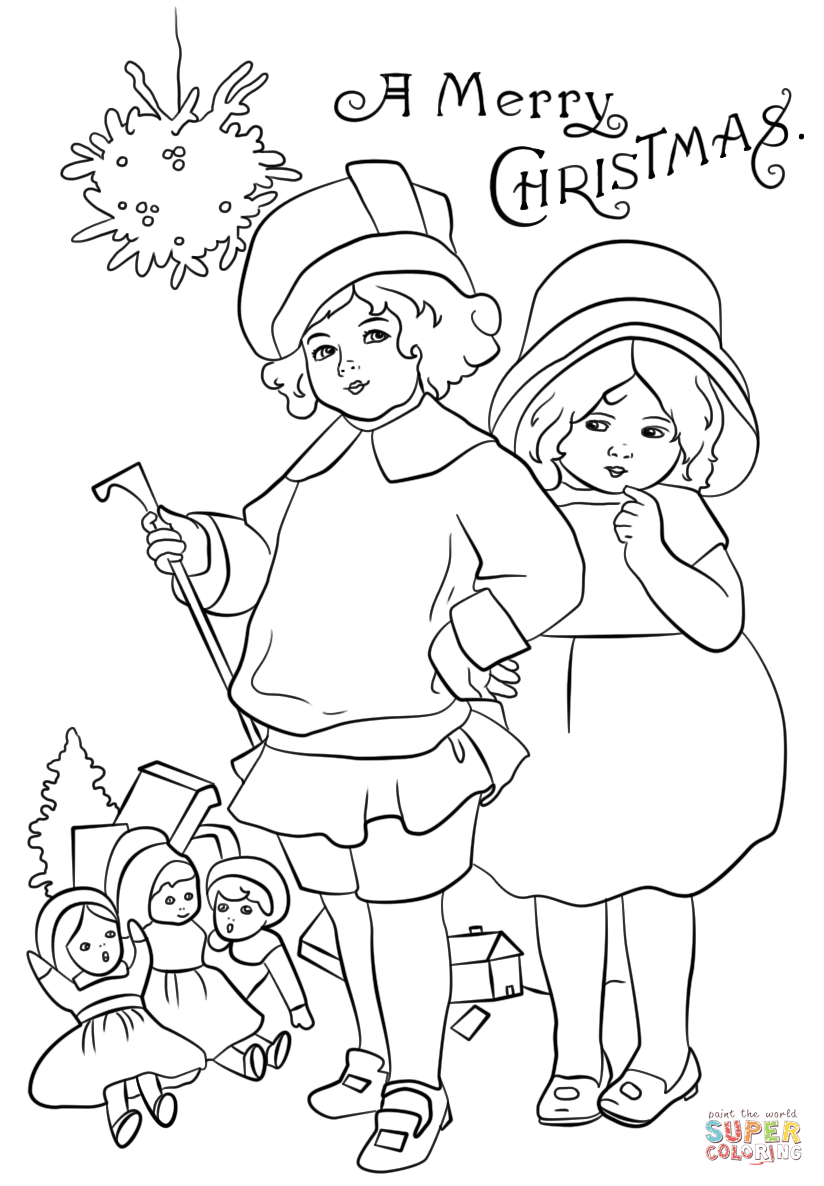 824x1186 victorian christmas card coloring page free printable coloring pages