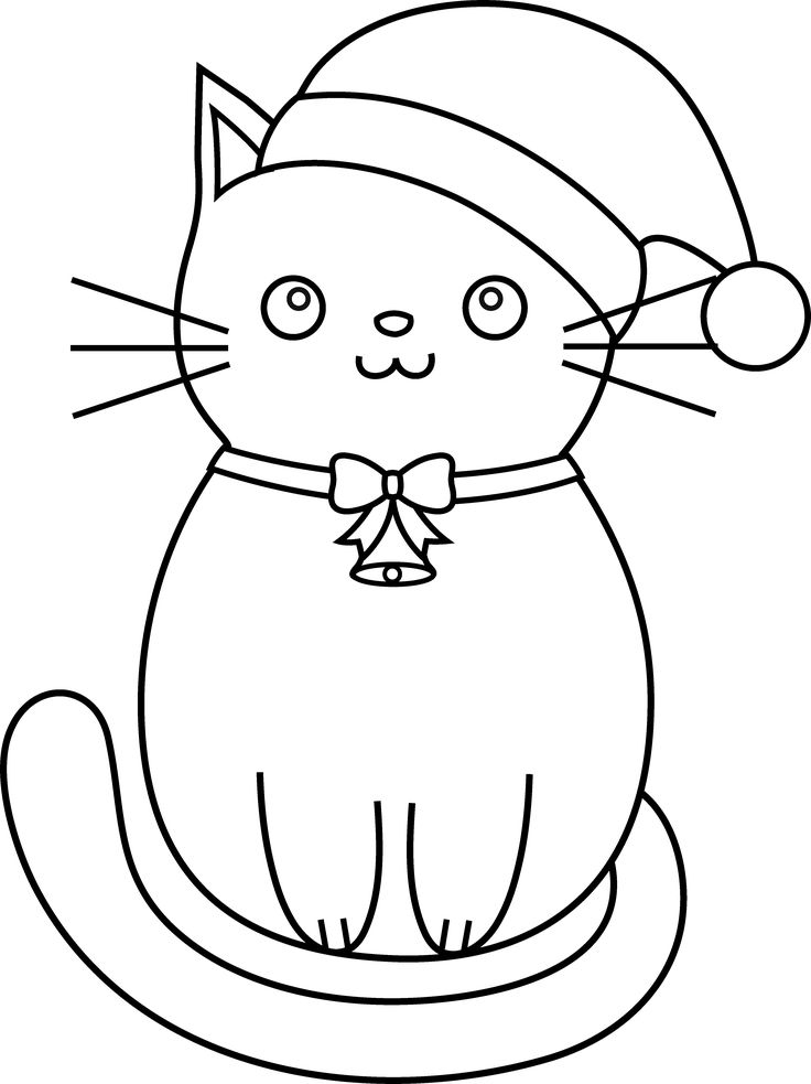 Christmas Cat Drawing