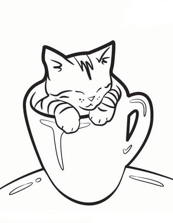 Christmas Cat Drawing at GetDrawings.com | Free for personal use ...