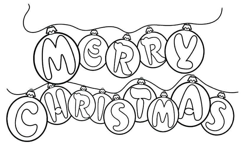 816x551 Christmas Clipart To Color Pictures To Color For Kids Coloring