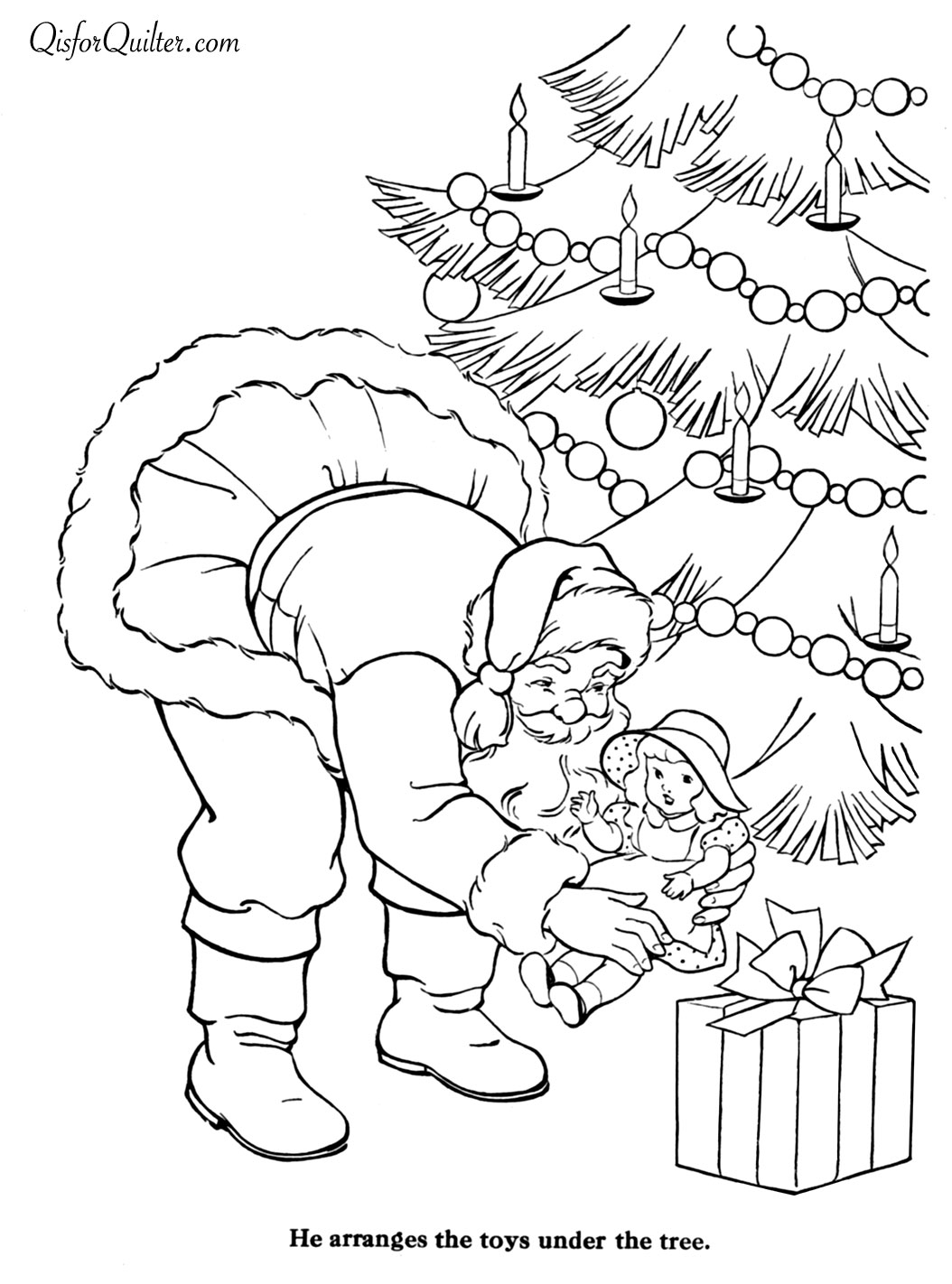 1054x1422 Merry Christmas Paint Book 27 Fargelegging Painted