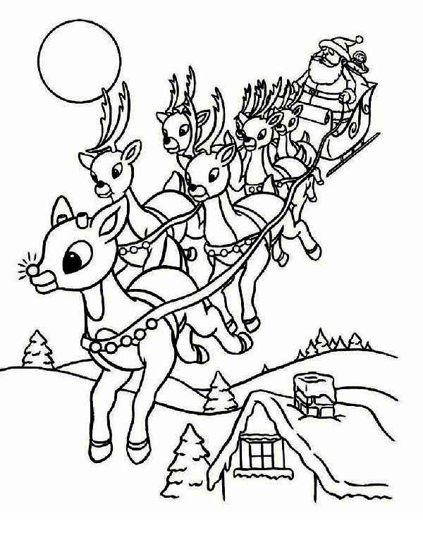 600x776 Santa Clauss Riding Christmas Sleigh On Eve