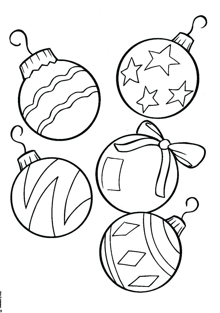 736x1047 Christmas Ornaments Coloring Page Ornaments Coloring Page Best