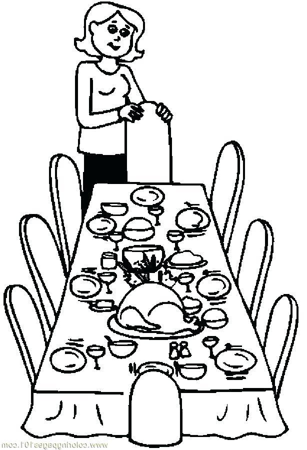 614x900 Dinner Clipart Dinnertime Clipart Christmas Dinner Table