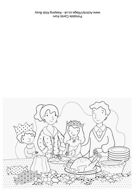 460x650 Dinner Colouring Card