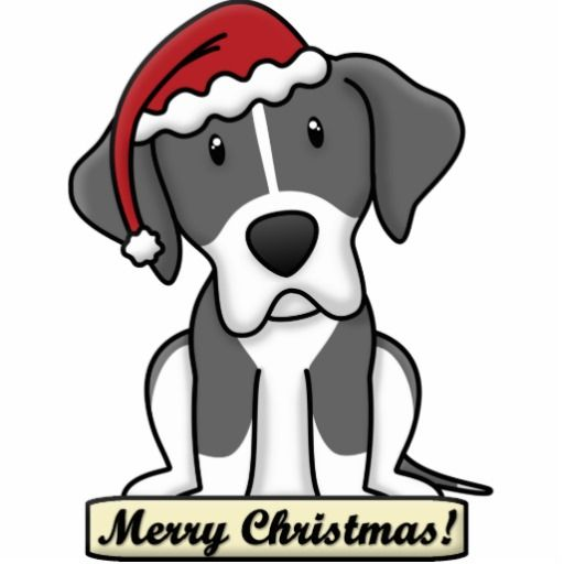 Christmas Dog Drawing