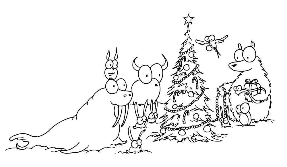1000x583 Christmas Drawings Pdf For Children To Color