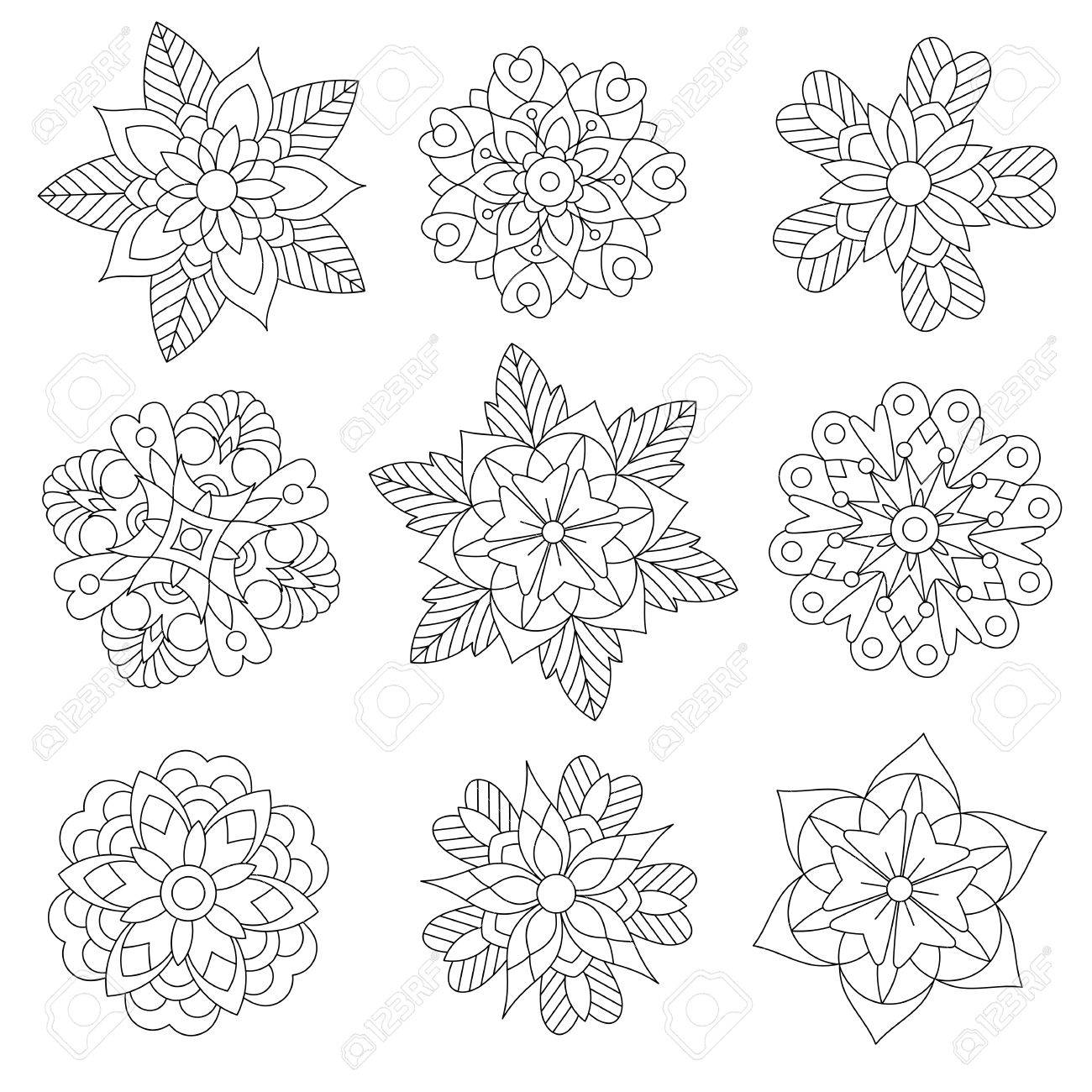 1300x1300 Coloring Page Christmas Floral Decorations. Collection