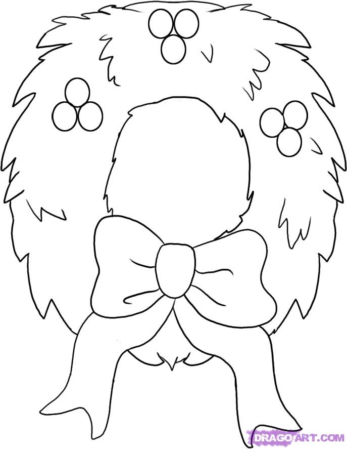 687x887 Drawings Of Christmas Decorations] Drawings Of Christmas