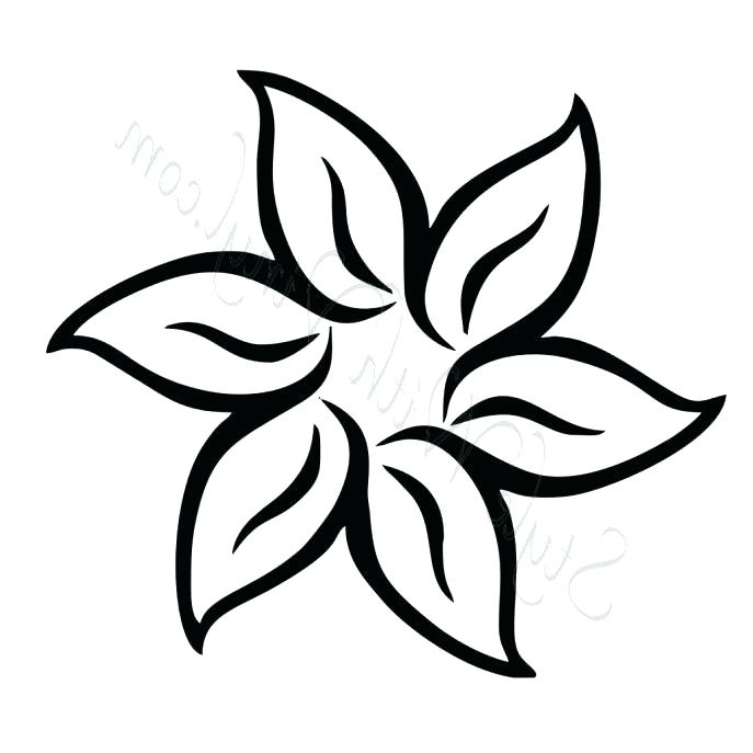 687x687 Coloring Pages Draw Easy Flowers Affan