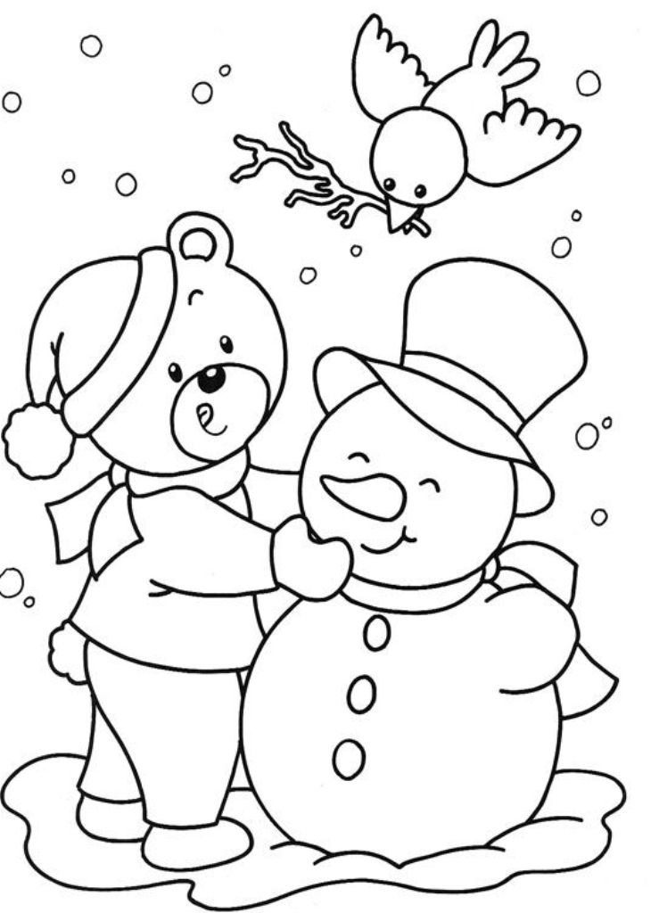 739x1024 Winter And Christmas Coloring Pages