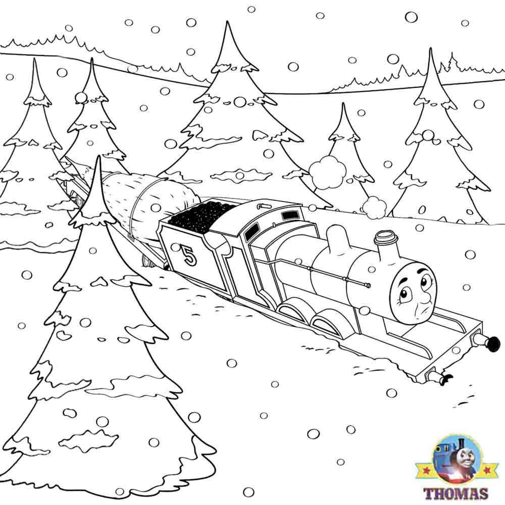 1000x1000 thomas christmas coloring sheets for children printable pictures