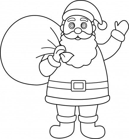 438x470 Christmas Santa Claus Drawings Christmas Wallpaper