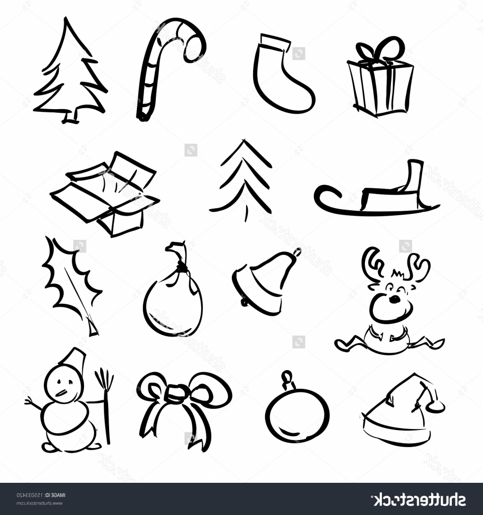 960x1024 Simple Christmas Drawing Christmas Simple Objects Cartoon Sketch