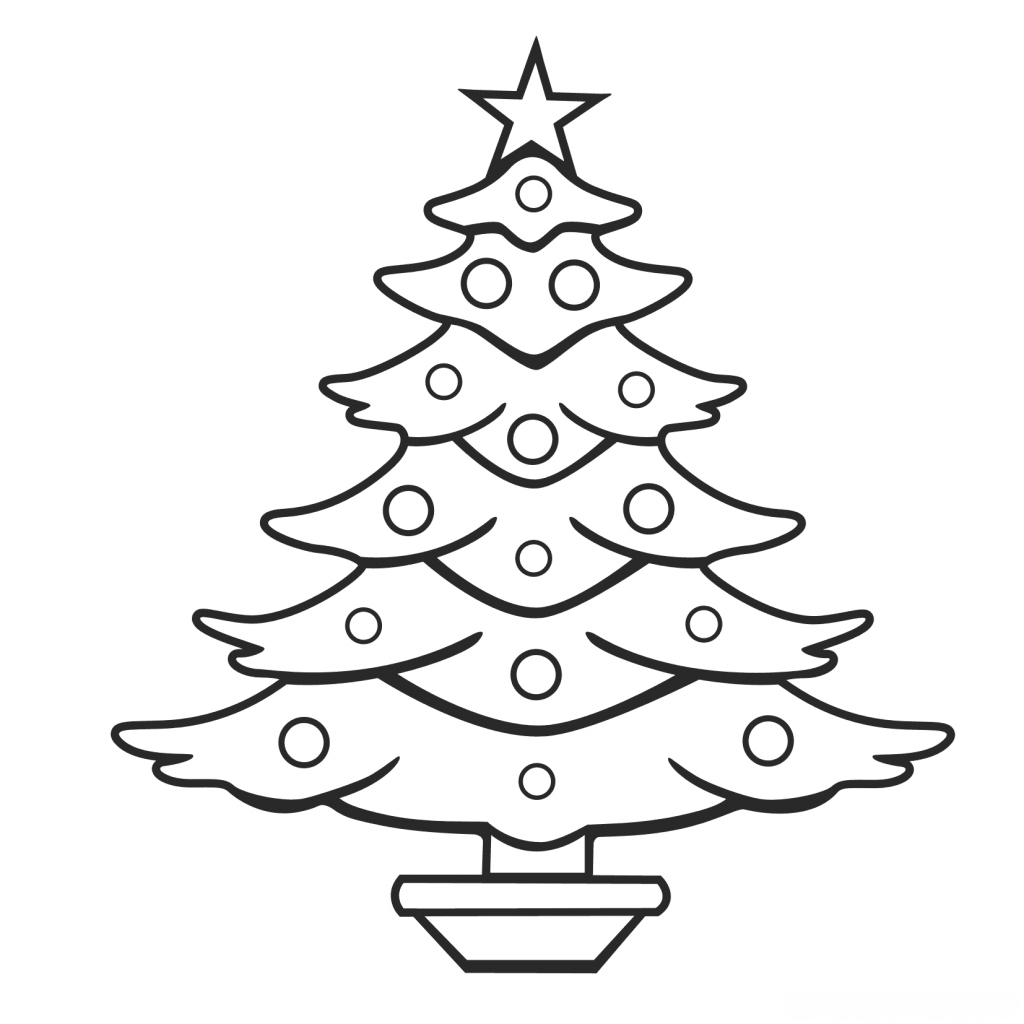 1024x1024 Christmas Tree To Draw