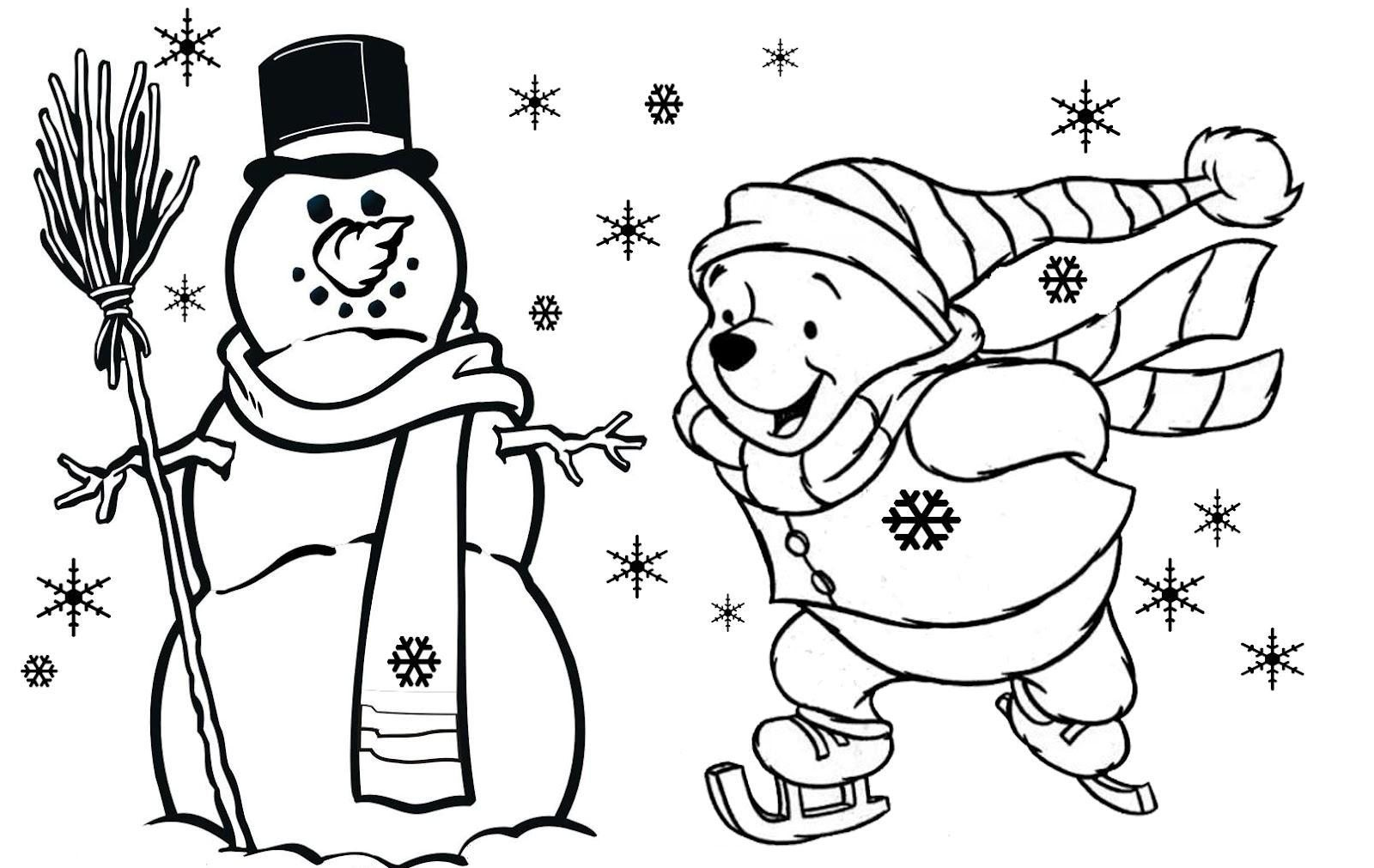1600x1011 winnie the pooh free christmas coloring pages for kids new