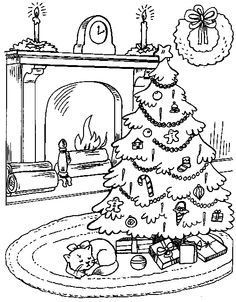 christmas drawing outlines at getdrawings com free for personal