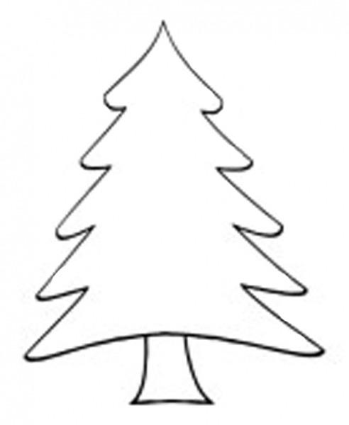 492x600 Christmas Tree Drawing Outline Sanjonmotel