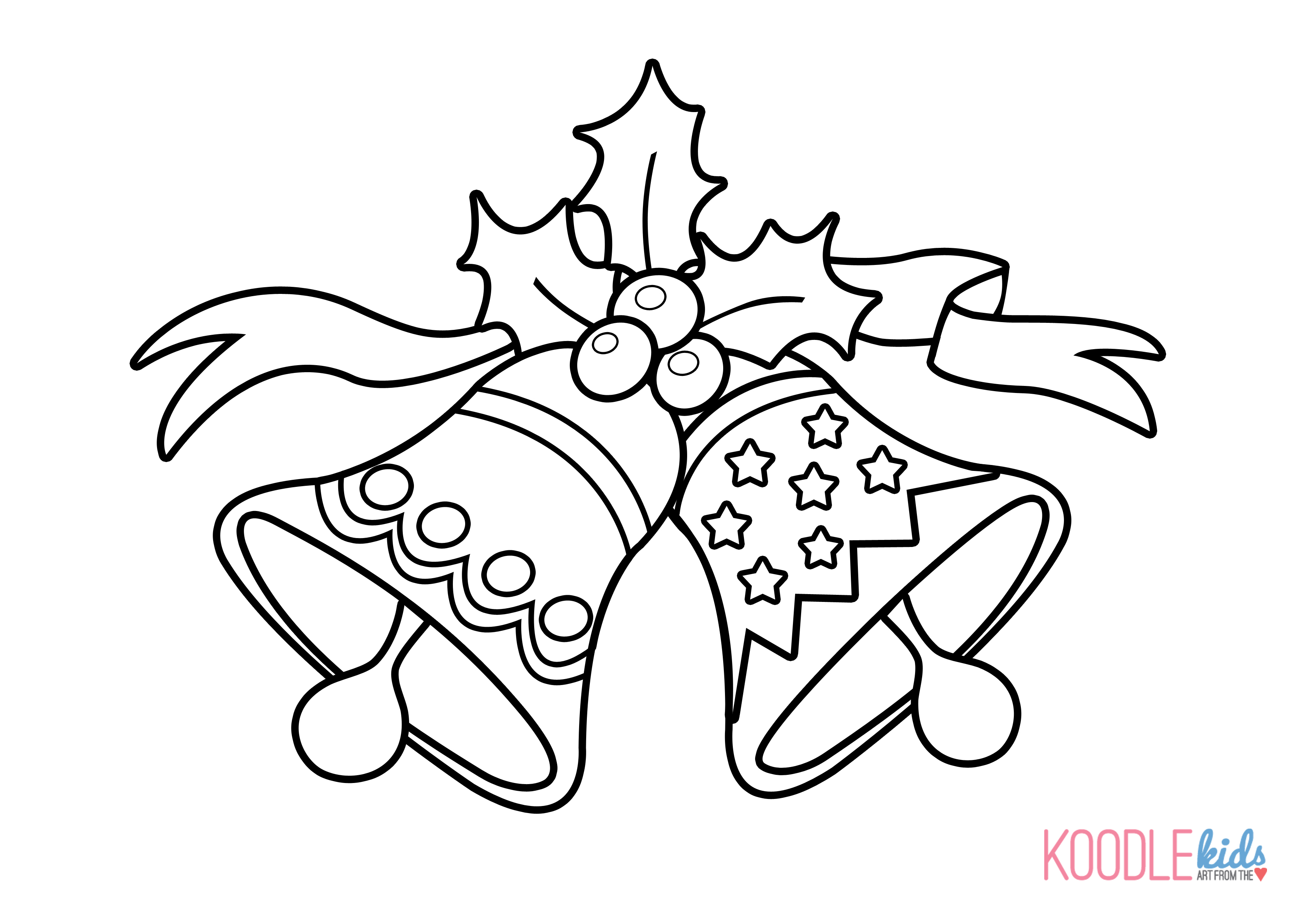 3510x2490 Christmas Tree Outline Coloring Pages
