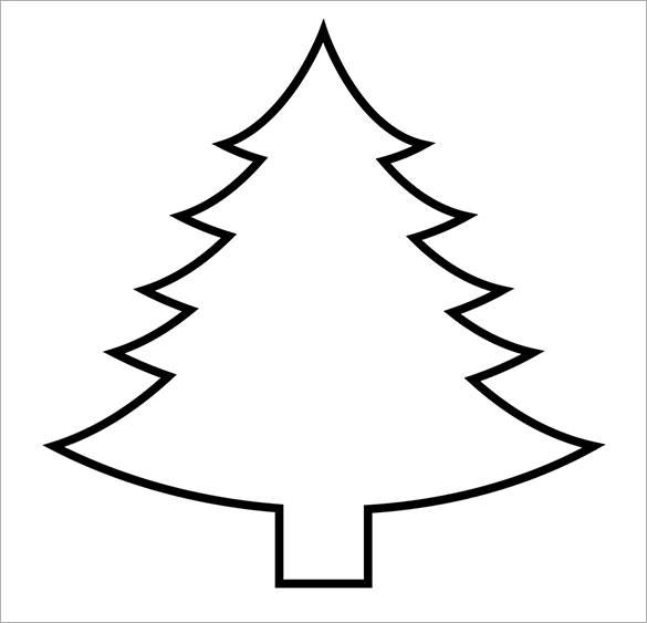 585x563 Christmas Tree Outline Printable Preschool To Pretty Coloring