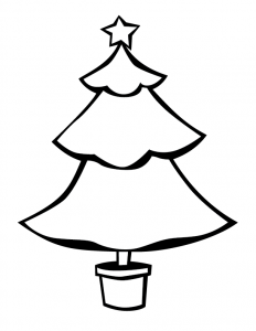 232x300 Christmas Tree Outlines