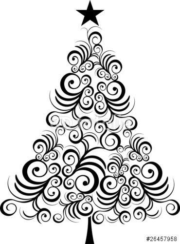 370x500 Christmas Tree Outline