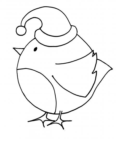 coloring pages robin tree - photo#12