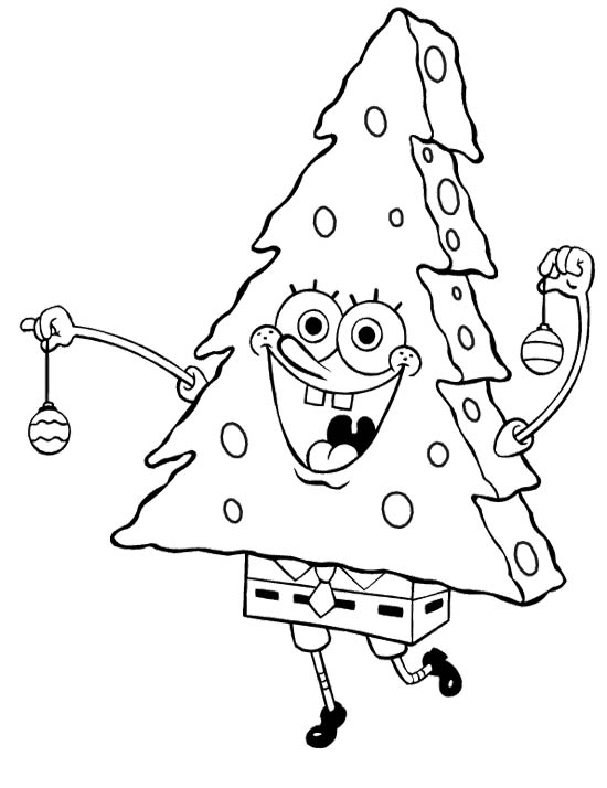 550x714 Spongebob Merry Christmas Coloring Page For Girls