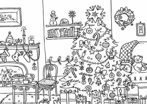 500x353 Hard Christmas Drawings Merry Christmas And Happy New Year 2018