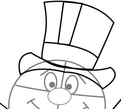 400x363 How To Draw Frosty The Snowman Step By Step Drawing Tutorial