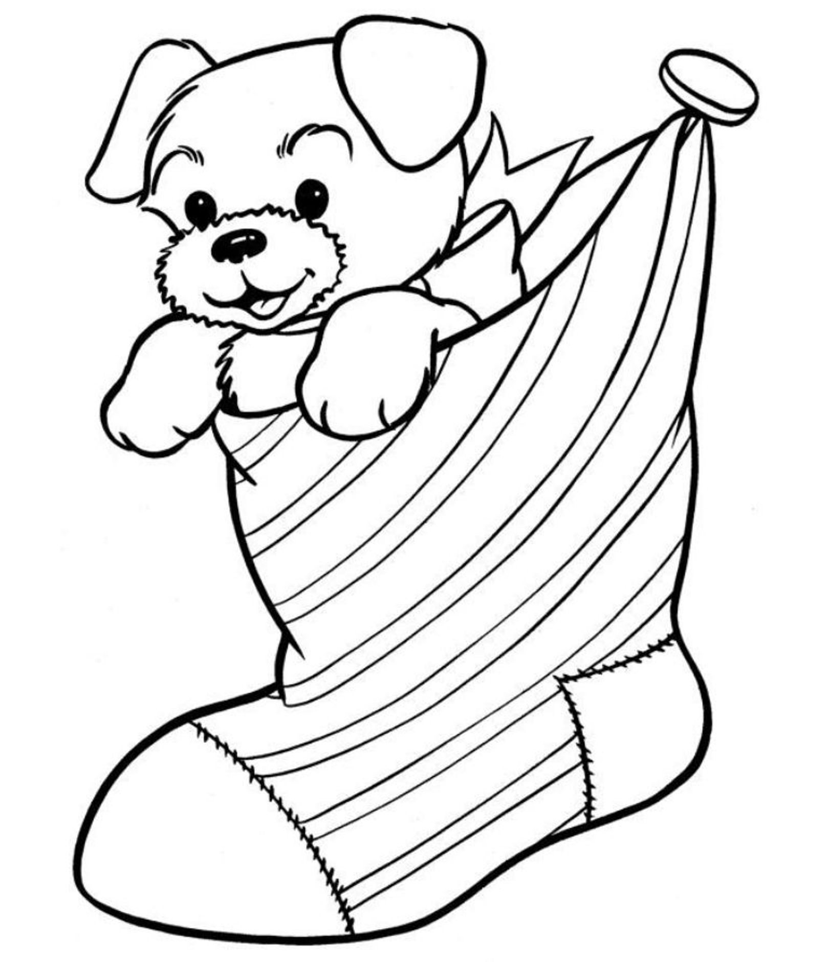 1620x1880 Christmas Puppy Coloring Pages Printable In Tiny Draw Page