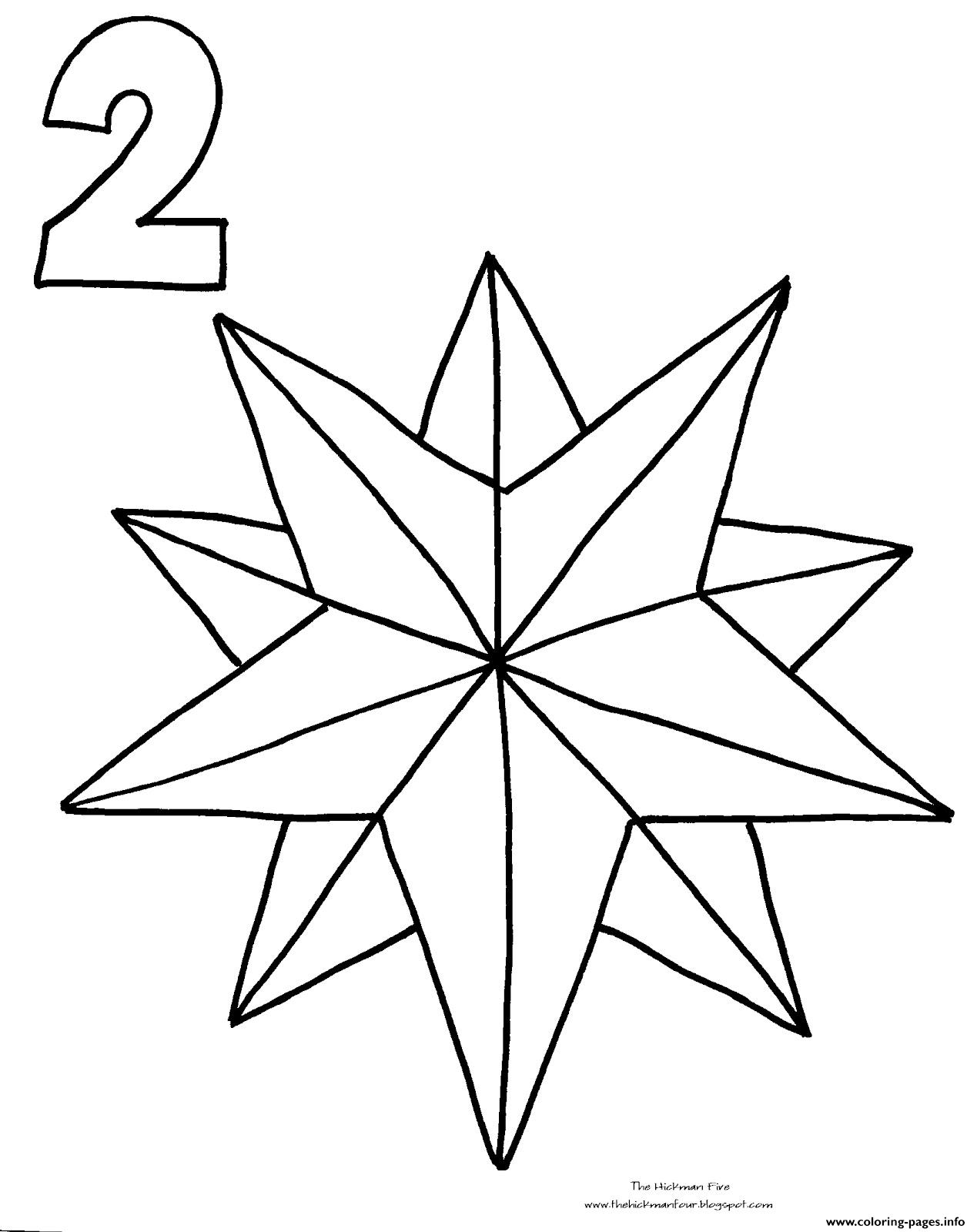1269x1600 Christmas Star Drawing