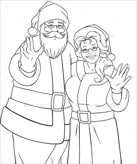 Christmas Drawing Santa