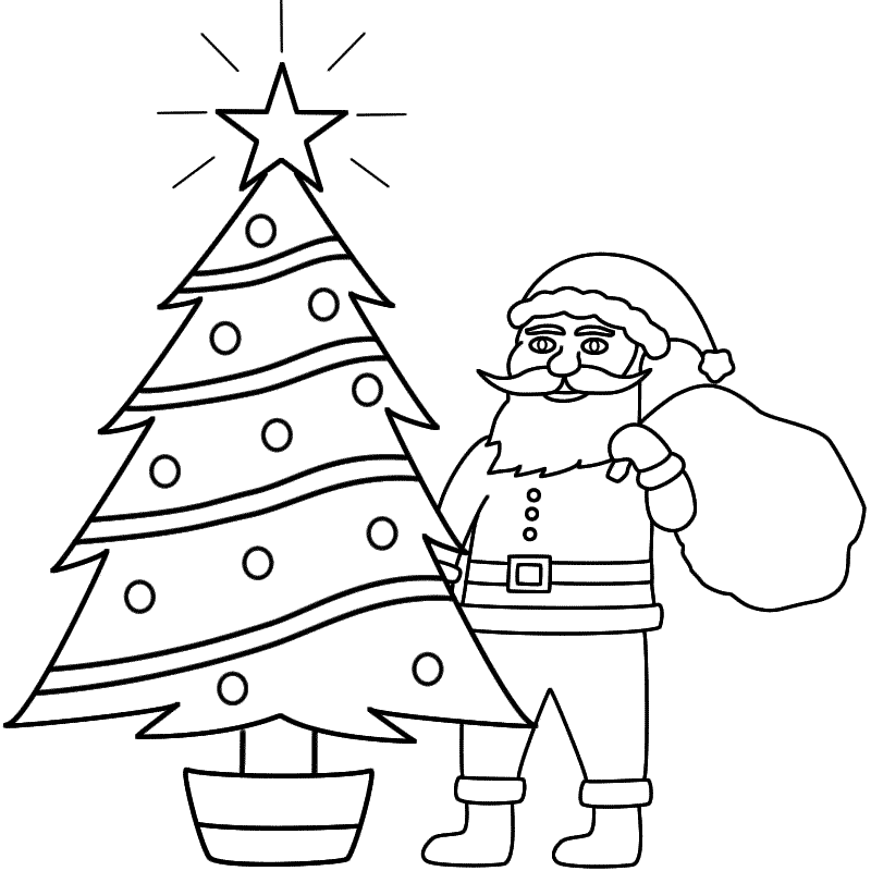 800x800 santa christmas decorations drawing merry christmas amp happy new