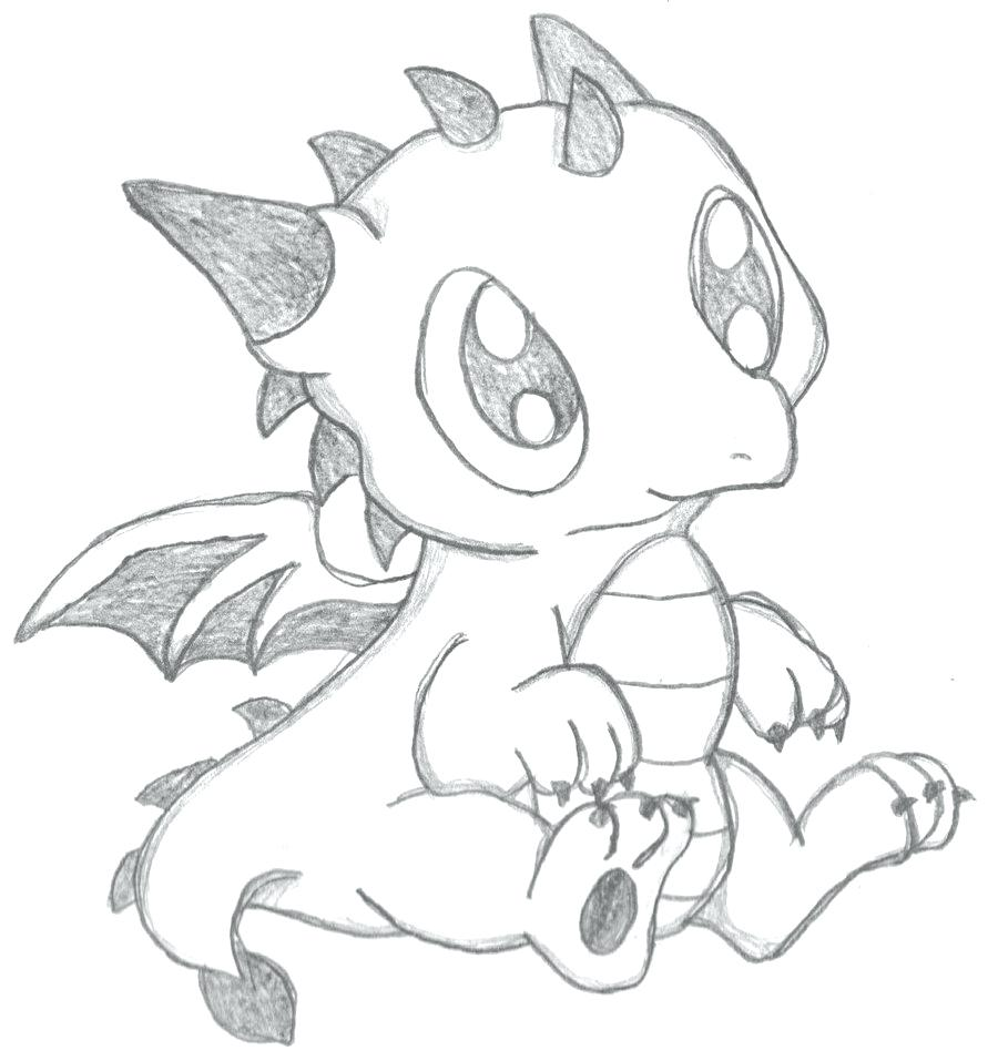 900x957 Coloring Cute Baby Dragon Pages Template Christmas