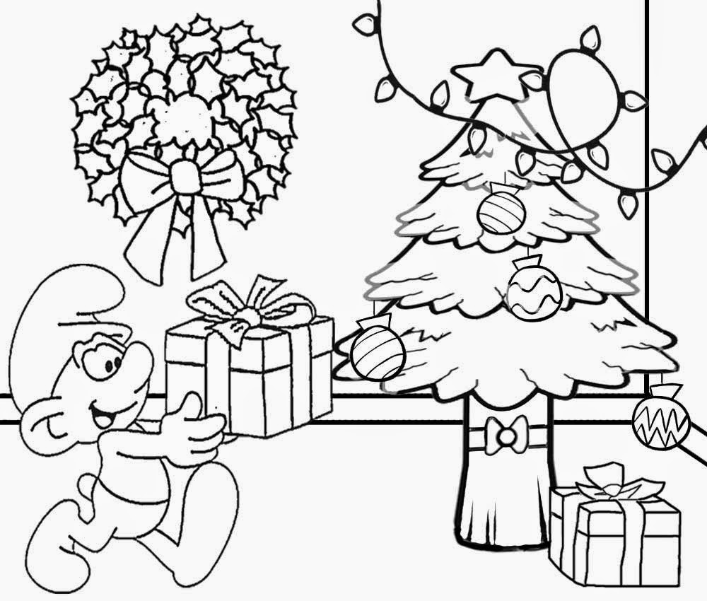 Christmas Drawing To Color At GetDrawings