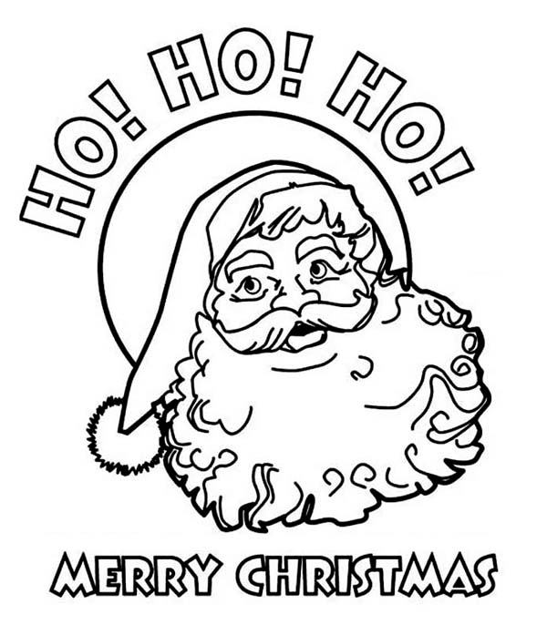 600x686 ho ho ho and happy merry christmas from santa coloring page