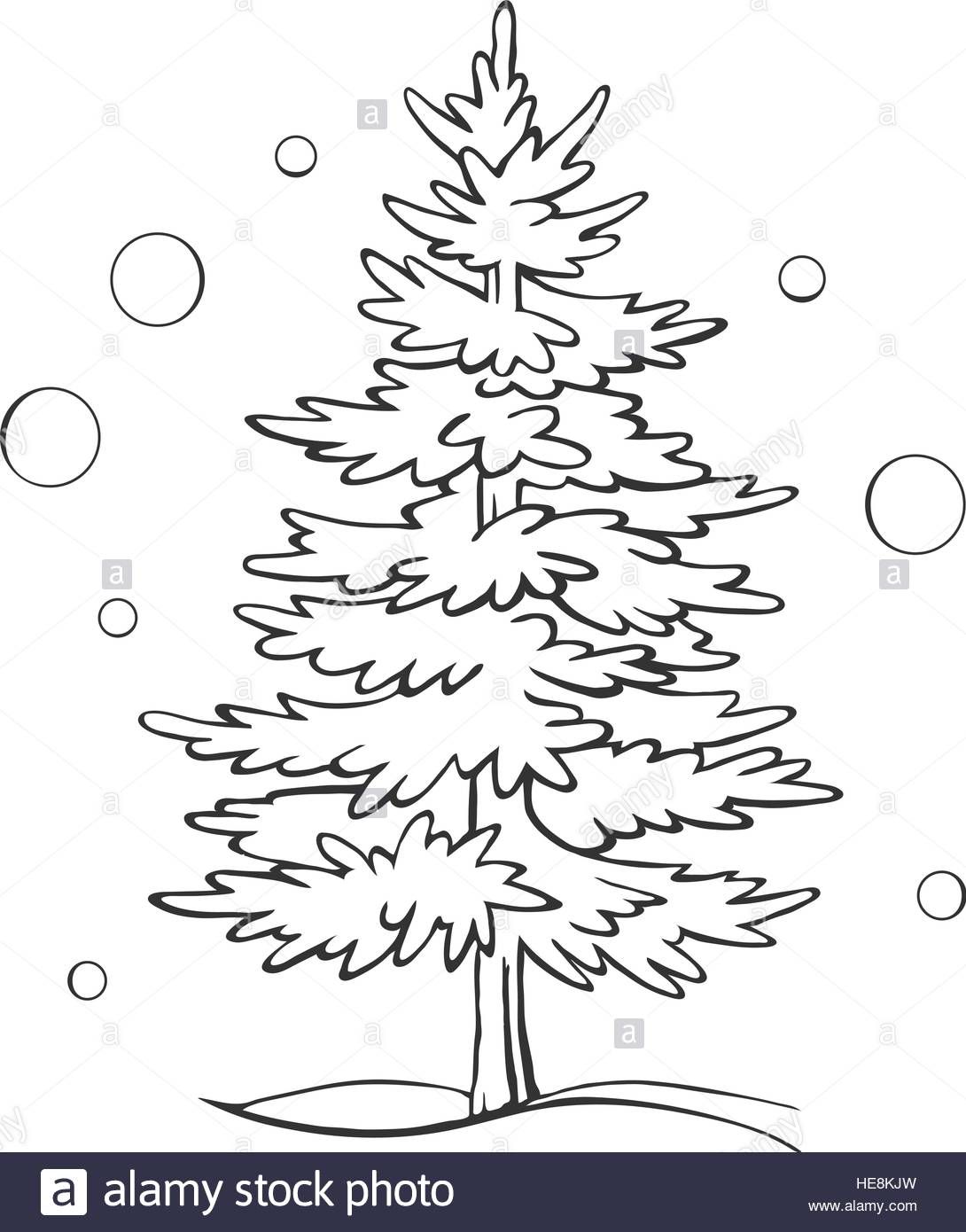 1090x1390 Christmas Tree Sketch Symbol Vector Xmas Winter Stock Vector Art