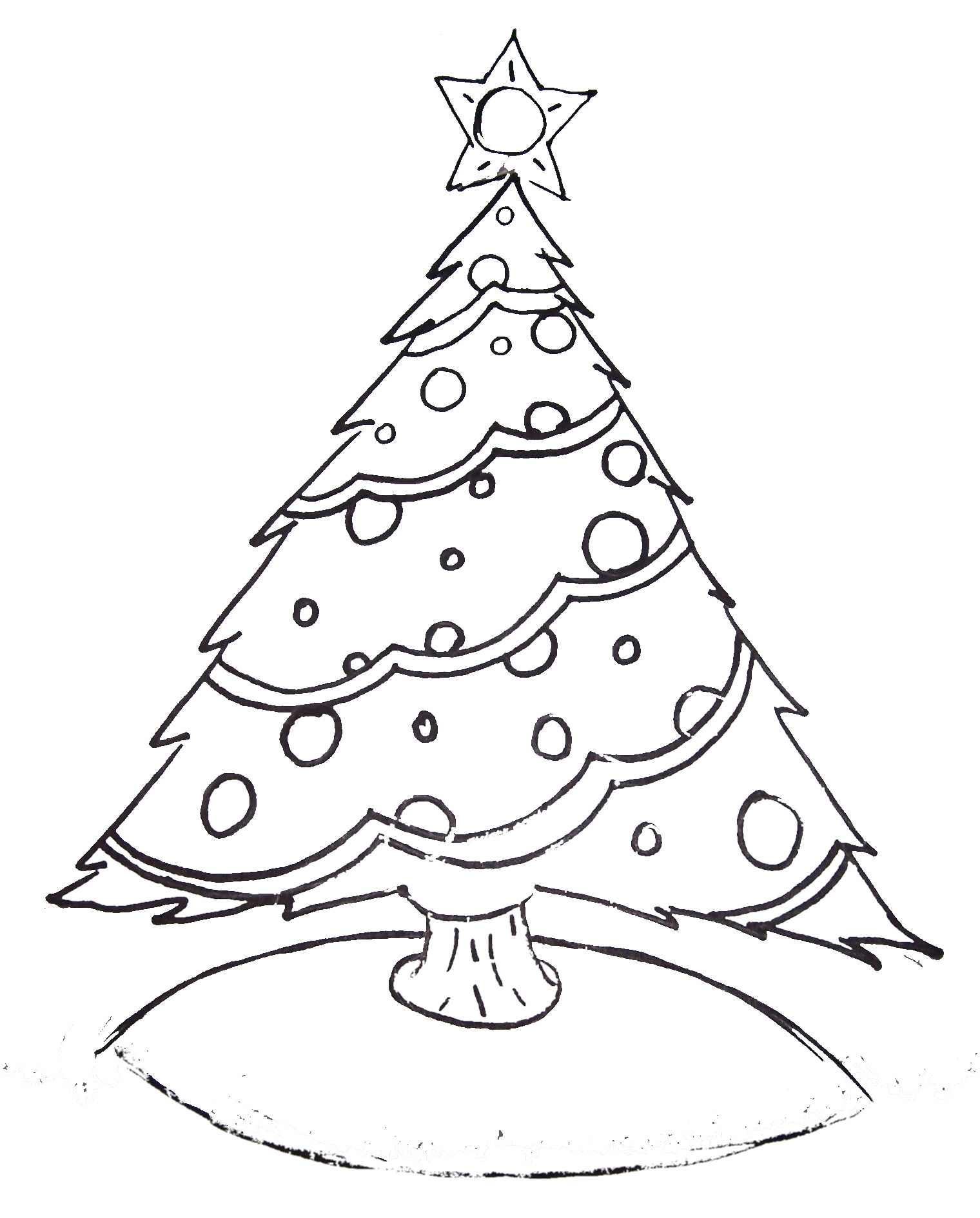 Christmas Drawing Tree at GetDrawings.com | Free for personal use ...