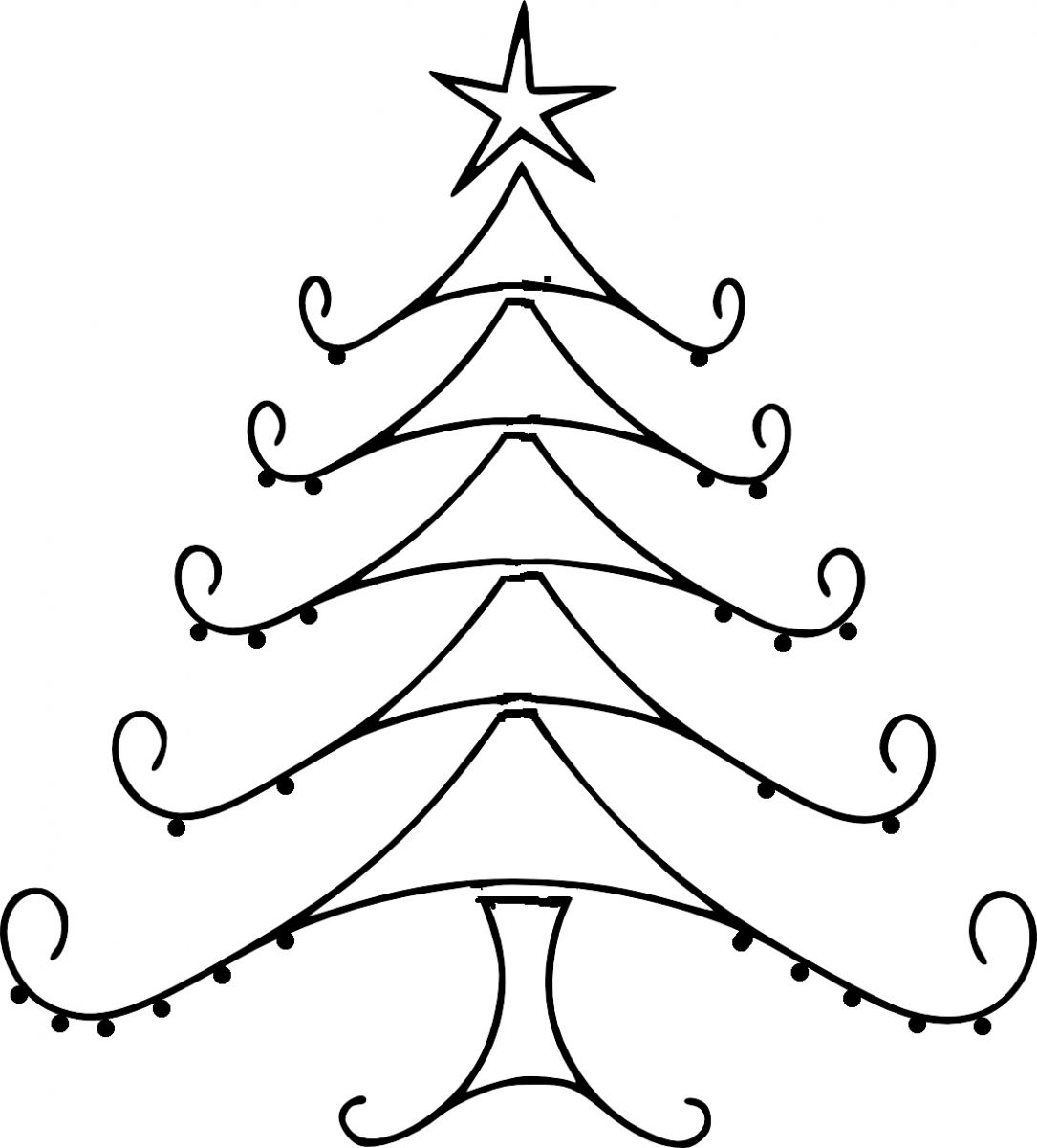 1085x1200 how to draw a christmas tree