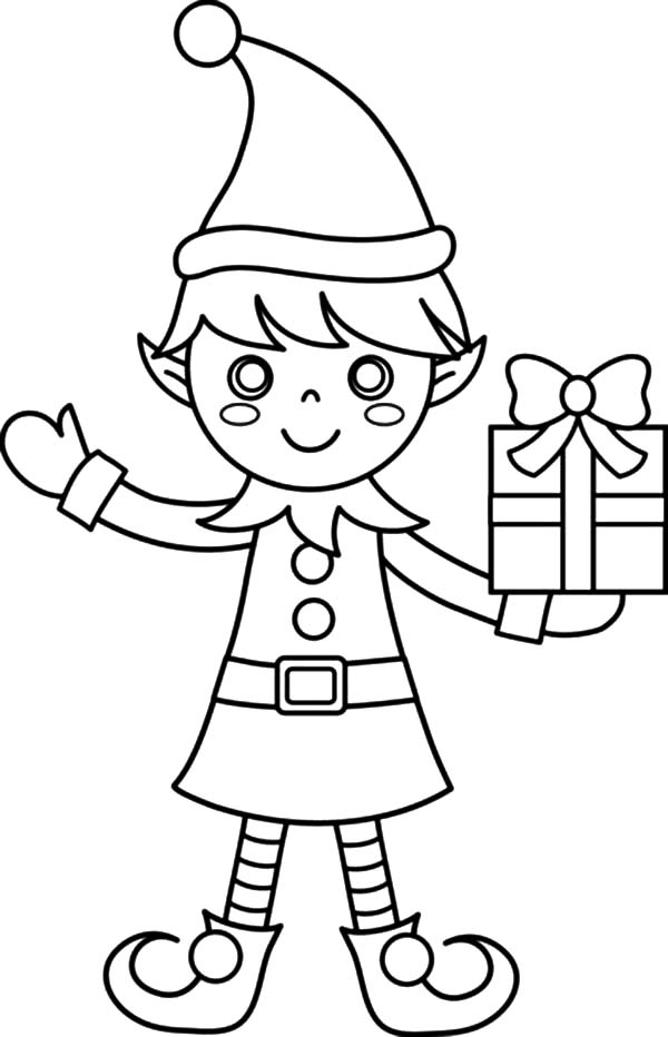 elf christmas coloring pages printable - photo#6